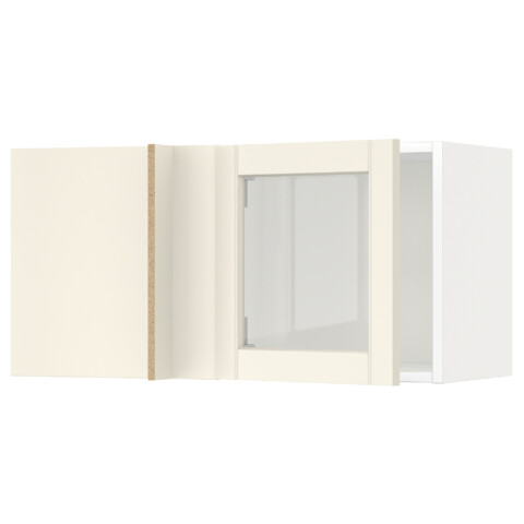 Угловой навесной шкаф+стеклян дверца МЕТОД белый артикуль № 792.404.17 в наличии. Онлайн магазин IKEA Республика Беларусь. Быстрая доставка и соборка.