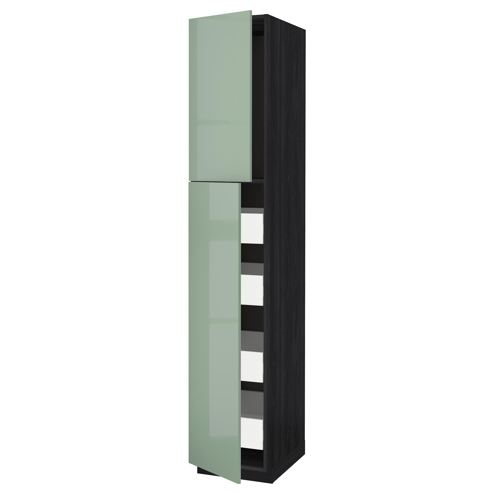 Высокий шкаф/2дверцы/4ящика МЕТОД / ФОРВАРА черный артикуль № 092.658.64 в наличии. Online сайт IKEA Минск. Быстрая доставка и соборка.