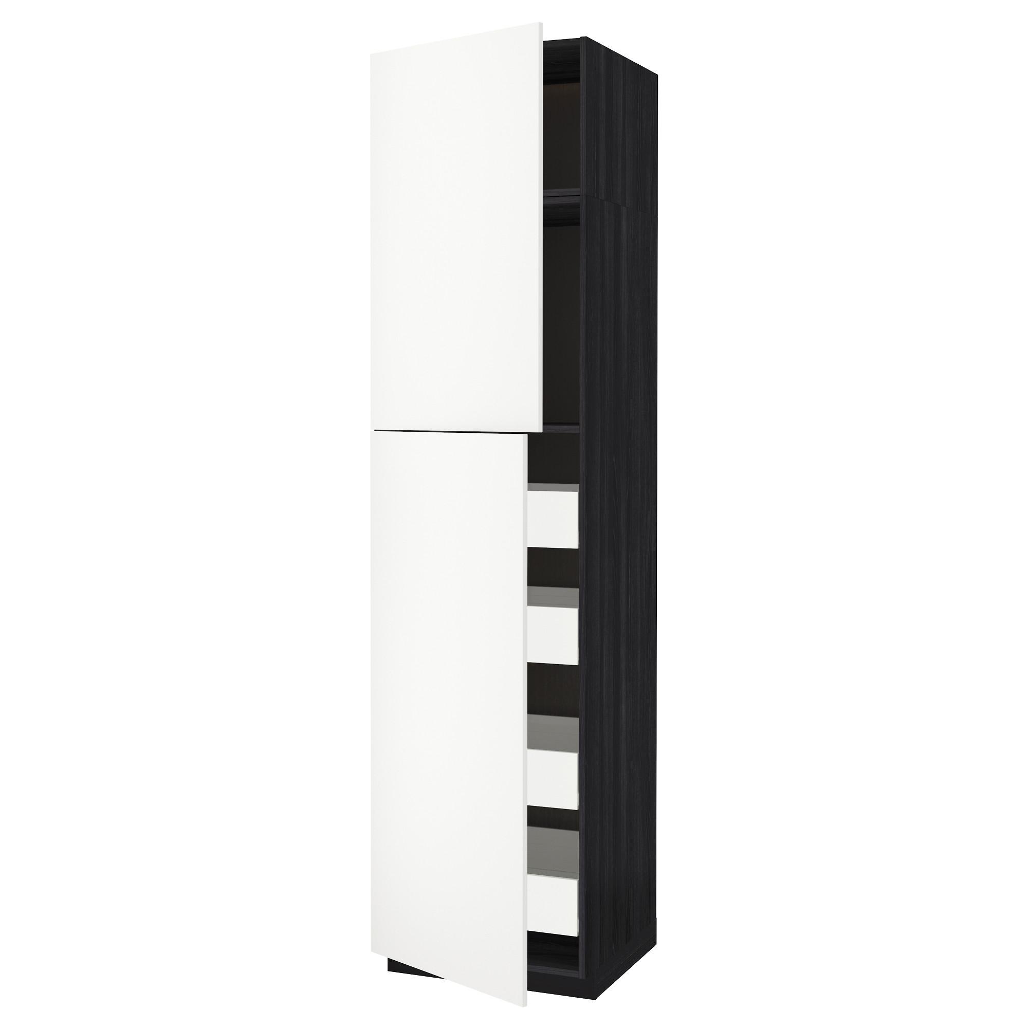 Высокий шкаф/2дверцы/4ящика МЕТОД / ФОРВАРА черный артикуль № 192.621.05 в наличии. Онлайн каталог IKEA РБ. Недорогая доставка и монтаж.
