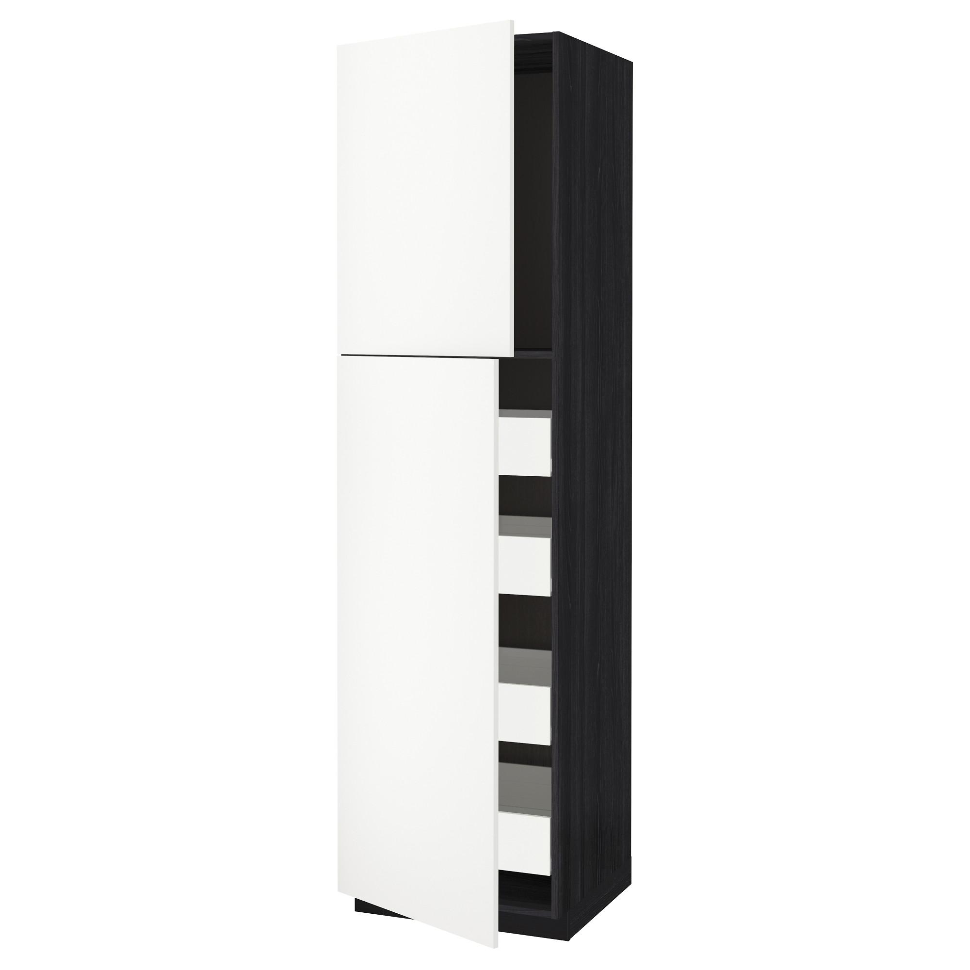 Высокий шкаф/2дверцы/4ящика МЕТОД / ФОРВАРА черный артикуль № 592.621.13 в наличии. Интернет магазин IKEA РБ. Быстрая доставка и установка.