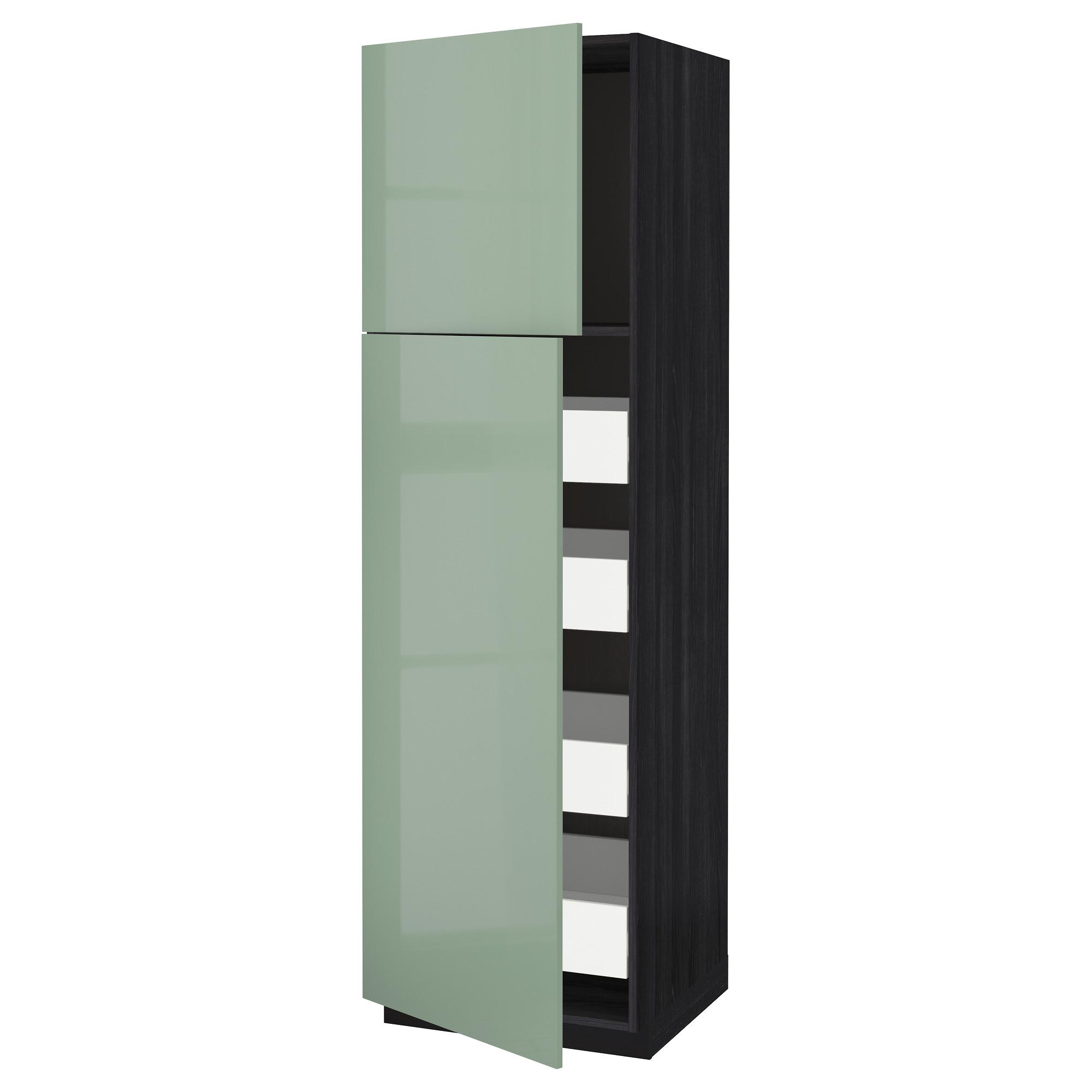 Высокий шкаф/2дверцы/4ящика МЕТОД / ФОРВАРА черный артикуль № 692.658.61 в наличии. Онлайн сайт IKEA РБ. Недорогая доставка и монтаж.