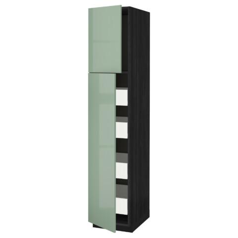 Высокий шкаф/2дверцы/4ящика МЕТОД / ФОРВАРА черный артикуль № 892.658.55 в наличии. Online магазин IKEA РБ. Недорогая доставка и монтаж.