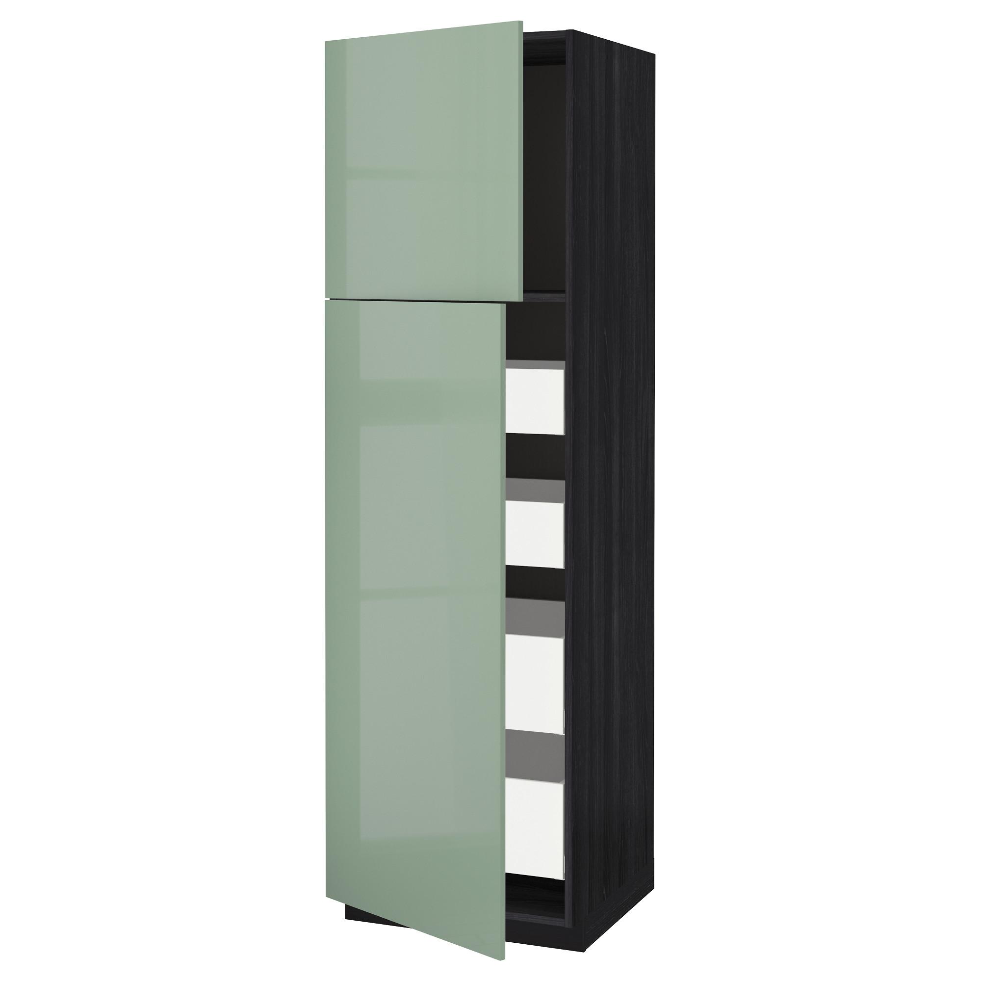Высокий шкаф/2дверцы/4ящика МЕТОД / МАКСИМЕРА черный артикуль № 192.460.78 в наличии. Интернет магазин IKEA РБ. Быстрая доставка и установка.