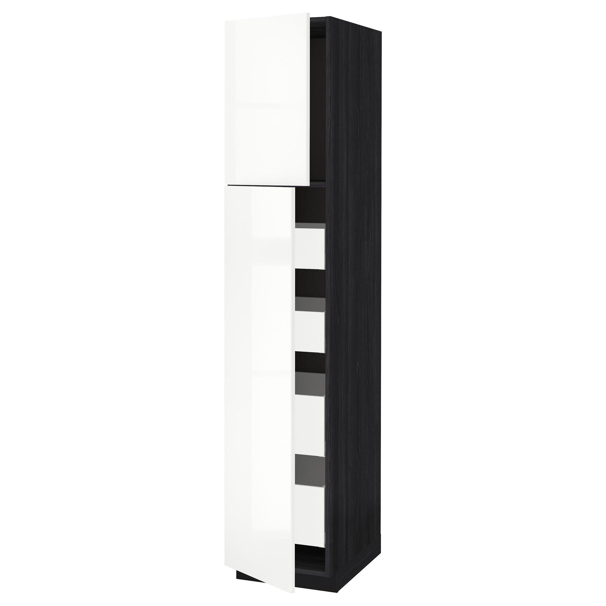 Высокий шкаф/2дверцы/4ящика МЕТОД / МАКСИМЕРА черный артикуль № 392.368.70 в наличии. Онлайн каталог IKEA РБ. Быстрая доставка и установка.