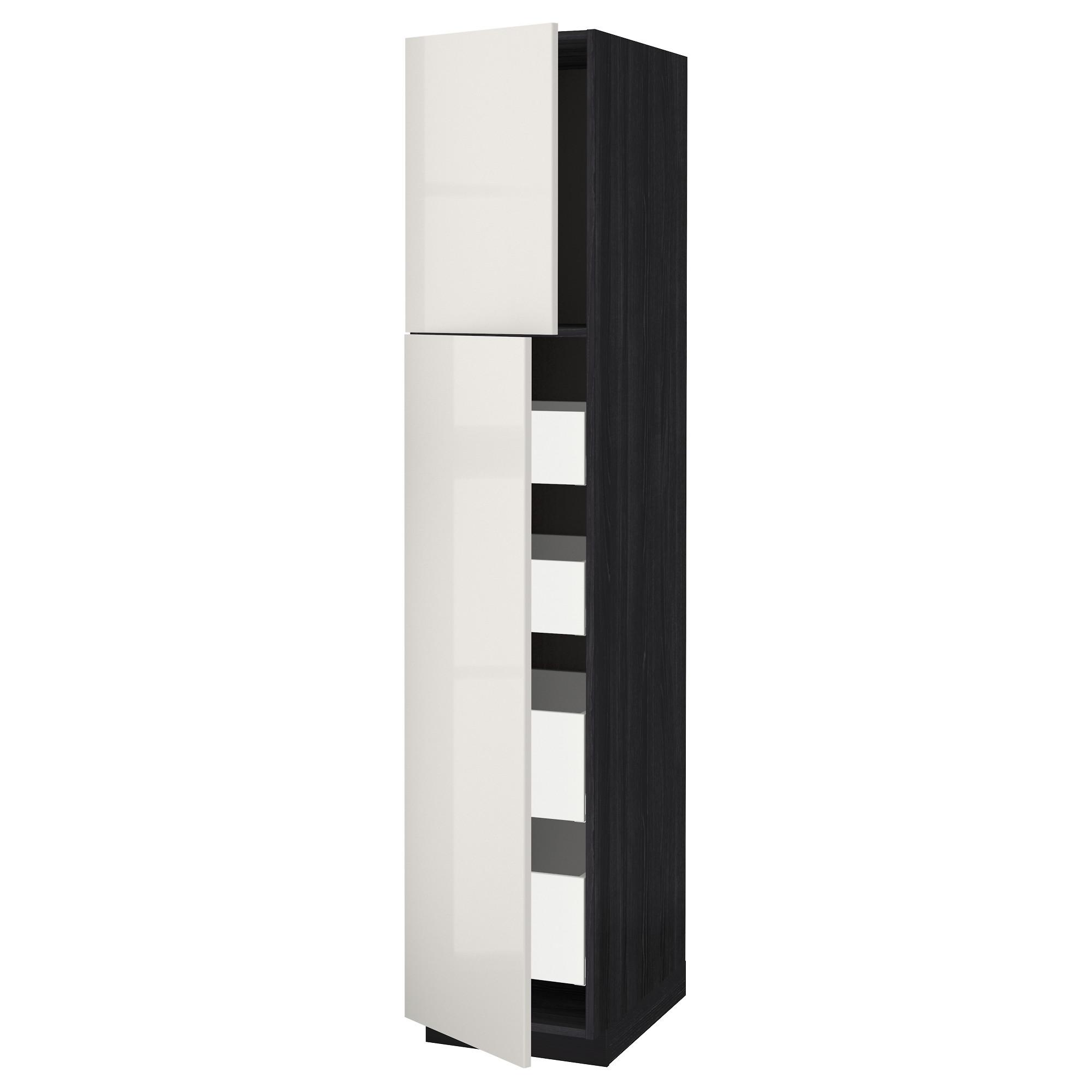 Высокий шкаф/2дверцы/4ящика МЕТОД / МАКСИМЕРА черный артикуль № 592.368.69 в наличии. Онлайн сайт IKEA РБ. Недорогая доставка и соборка.