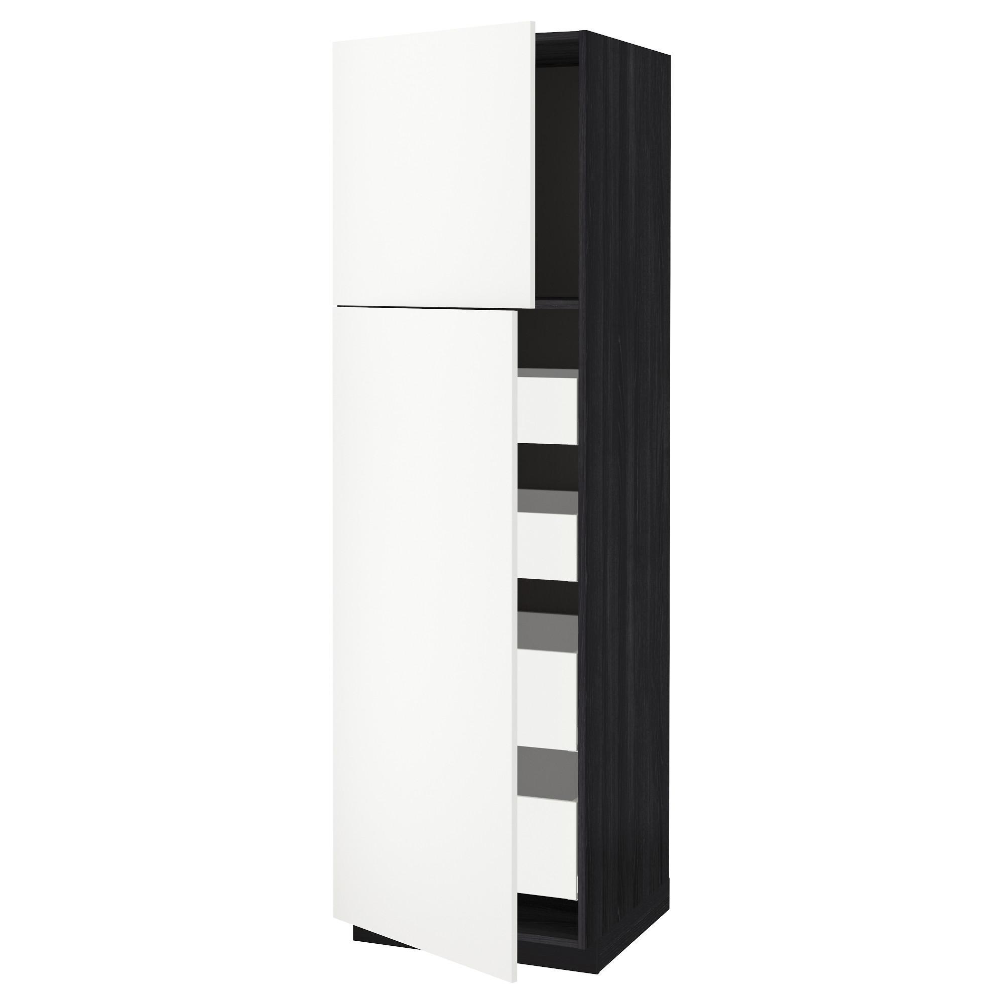 Высокий шкаф/2дверцы/4ящика МЕТОД / МАКСИМЕРА черный артикуль № 792.316.20 в наличии. Онлайн каталог IKEA Минск. Недорогая доставка и монтаж.