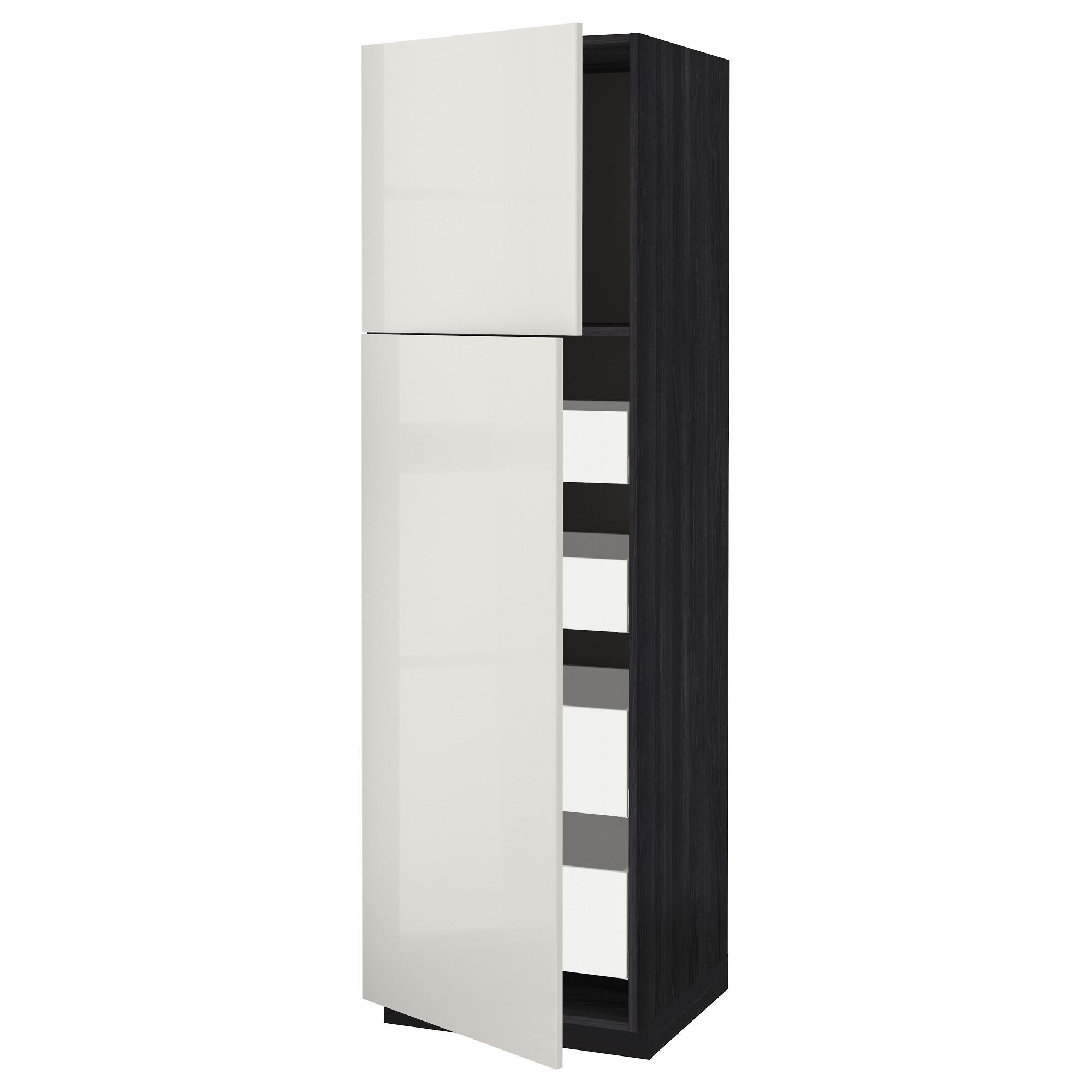 Высокий шкаф/2дверцы/4ящика МЕТОД / МАКСИМЕРА черный артикуль № 892.368.77 в наличии. Интернет сайт IKEA Республика Беларусь. Быстрая доставка и установка.
