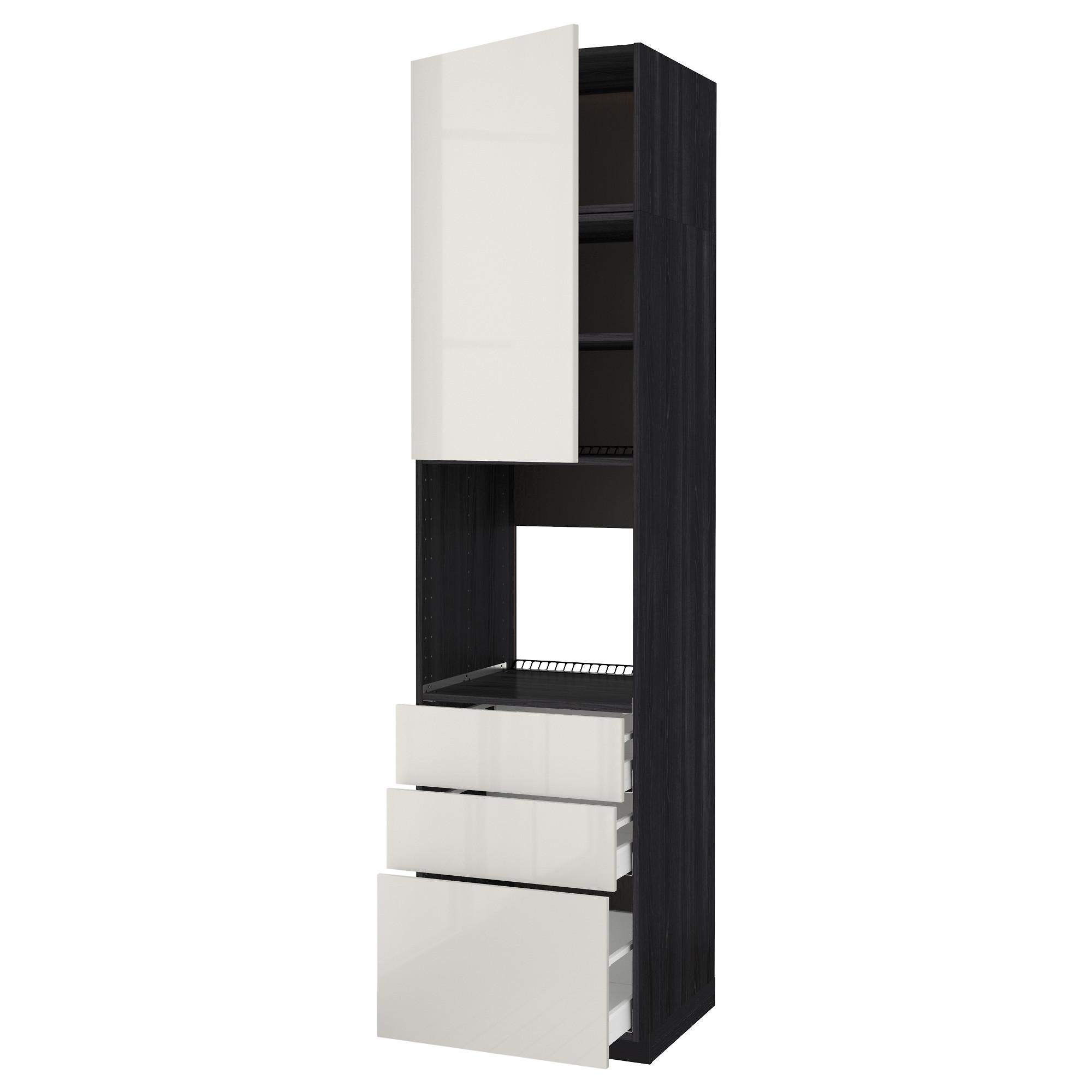 Высокий шкаф для духовки/дверь/3 ящика МЕТОД / МАКСИМЕРА черный артикуль № 092.371.59 в наличии. Интернет магазин ИКЕА РБ. Недорогая доставка и соборка.