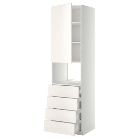 Высокий шкаф для духовки, дверца, 4 ящика МЕТОД / ФОРВАРА белый артикуль № 792.647.76 в наличии. Онлайн магазин IKEA Республика Беларусь. Недорогая доставка и установка.
