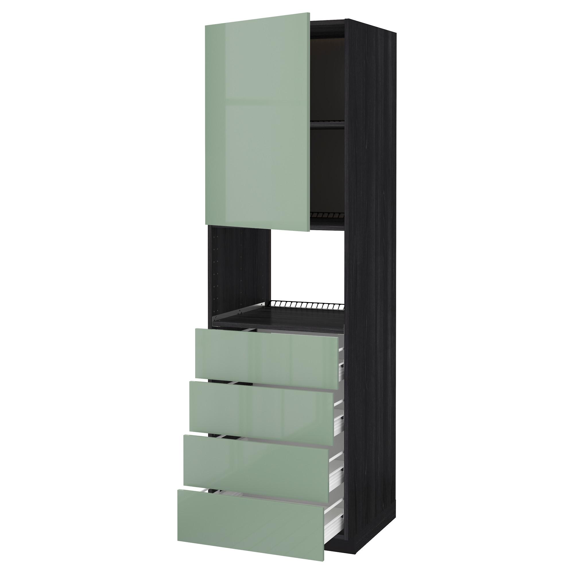 Высокий шкаф для духовки, дверца, 4 ящика МЕТОД / ФОРВАРА черный артикуль № 992.658.69 в наличии. Online сайт IKEA Беларусь. Недорогая доставка и установка.