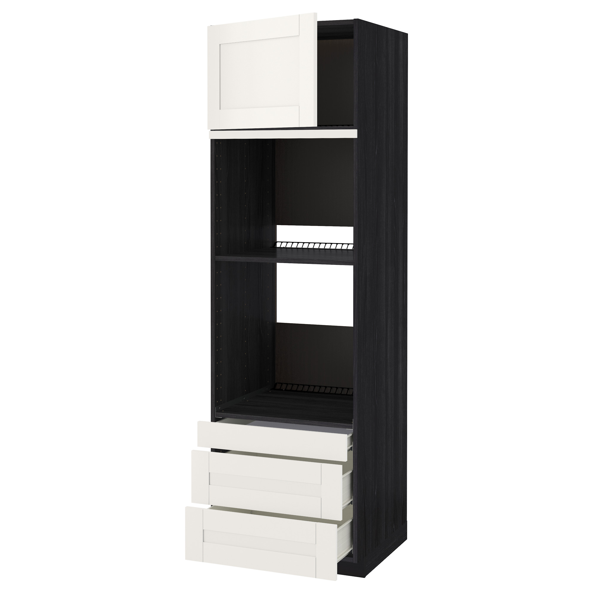 Высокий шкаф для духовки комбинированный, духовка + дверца, 3 ящика МЕТОД / ФОРВАРА черный артикуль № 492.664.04 в наличии. Онлайн каталог IKEA Беларусь. Недорогая доставка и установка.
