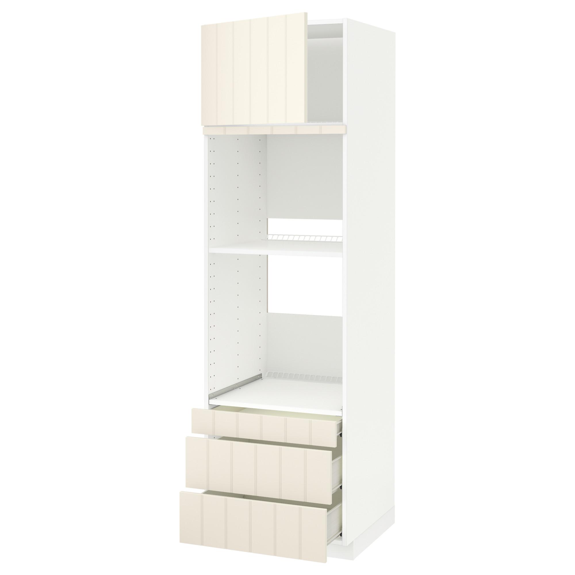 Высокий шкаф для духовки комбинированный, духовка + дверца, 3 ящика МЕТОД / ФОРВАРА белый артикуль № 692.619.57 в наличии. Интернет сайт IKEA Минск. Быстрая доставка и установка.