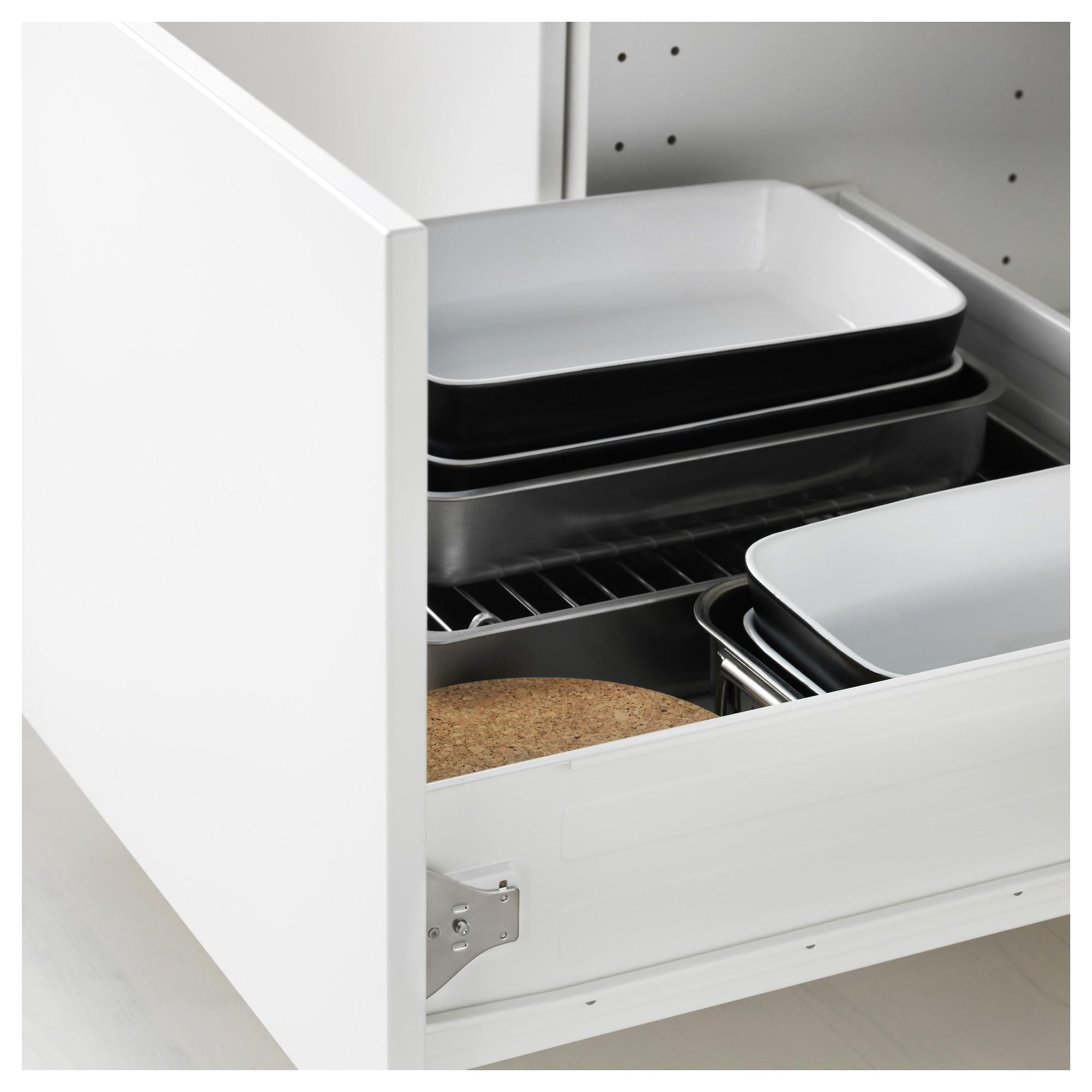 Высокий шкаф для духовки комбинированный, духовка + дверца, 3 ящика МЕТОД / ФОРВАРА белый артикуль № 692.621.22 в наличии. Онлайн сайт IKEA Минск. Быстрая доставка и соборка.