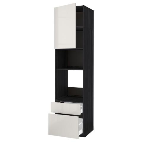 Высокий шкаф для духовки/СВЧ дверца, 2 ящика МЕТОД / МАКСИМЕРА черный артикуль № 892.371.03 в наличии. Интернет сайт IKEA РБ. Быстрая доставка и соборка.
