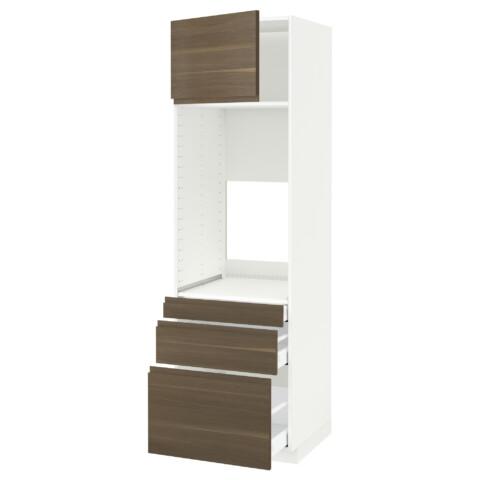Высокий шкаф для двойной духовки, 3 ящика, дверца МЕТОД / МАКСИМЕРА белый артикуль № 992.391.25 в наличии. Онлайн сайт IKEA РБ. Быстрая доставка и установка.