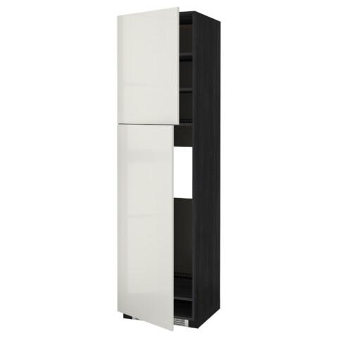 Высокий шкаф для холодильника, 2 дверцы МЕТОД черный артикуль № 292.330.56 в наличии. Online сайт ИКЕА Минск. Недорогая доставка и монтаж.