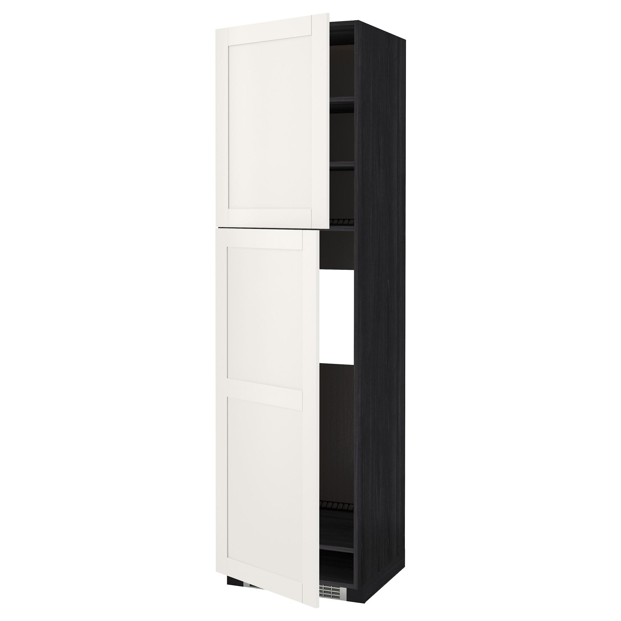 Высокий шкаф для холодильника, 2 дверцы МЕТОД черный артикуль № 392.231.70 в наличии. Онлайн магазин IKEA РБ. Быстрая доставка и соборка.