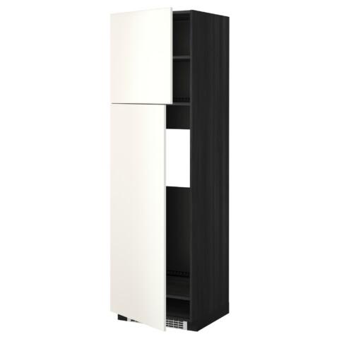 Высокий шкаф для холодильника, 2 дверцы МЕТОД черный артикуль № 792.237.81 в наличии. Онлайн магазин ИКЕА Минск. Недорогая доставка и монтаж.