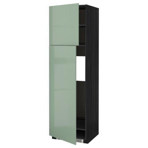 Высокий шкаф для холодильника, 2 дверцы МЕТОД черный артикуль № 992.252.89 в наличии. Online магазин ИКЕА РБ. Быстрая доставка и соборка.