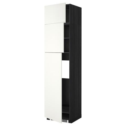 Высокий шкаф для холодильника, 3 дверцы МЕТОД черный артикуль № 392.263.43 в наличии. Интернет сайт ИКЕА РБ. Недорогая доставка и установка.