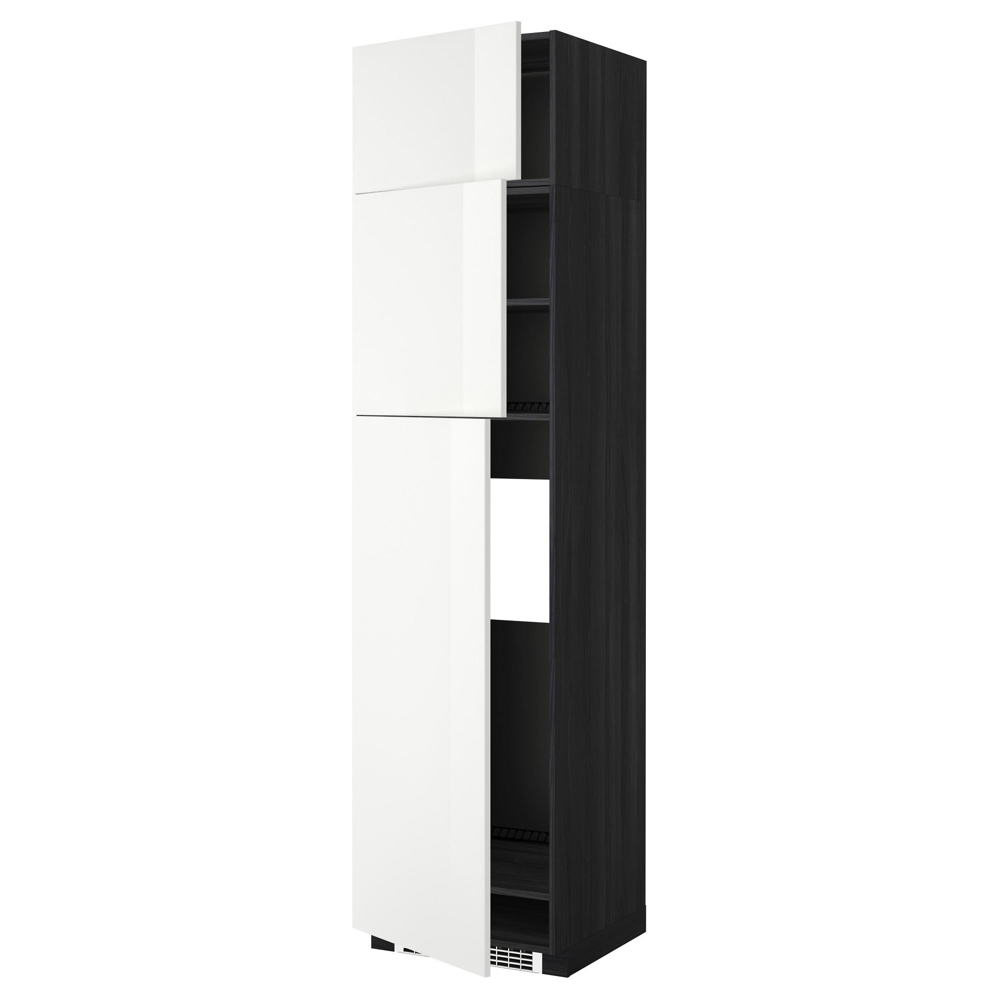 Высокий шкаф для холодильника, 3 дверцы МЕТОД черный артикуль № 692.331.20 в наличии. Онлайн магазин ИКЕА Республика Беларусь. Недорогая доставка и соборка.