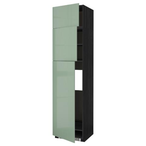 Высокий шкаф для холодильника, 3 дверцы МЕТОД черный артикуль № 892.251.38 в наличии. Онлайн каталог IKEA Минск. Быстрая доставка и установка.