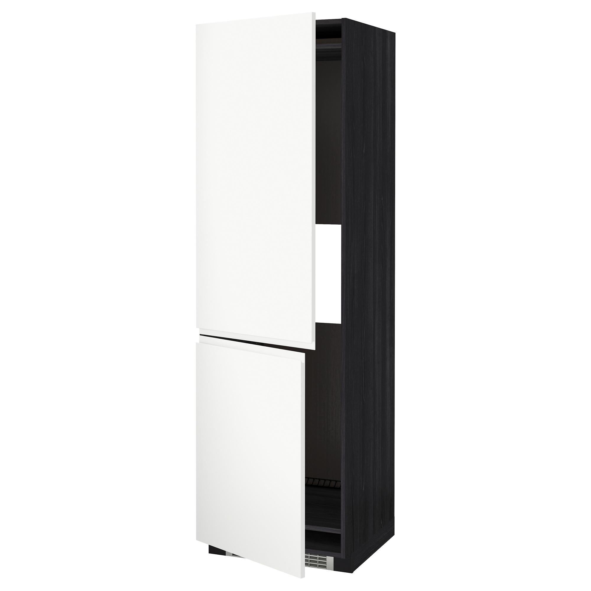 Высокий шкаф для холодильника или морозильник МЕТОД черный артикуль № 192.243.21 в наличии. Интернет каталог IKEA Республика Беларусь. Недорогая доставка и монтаж.