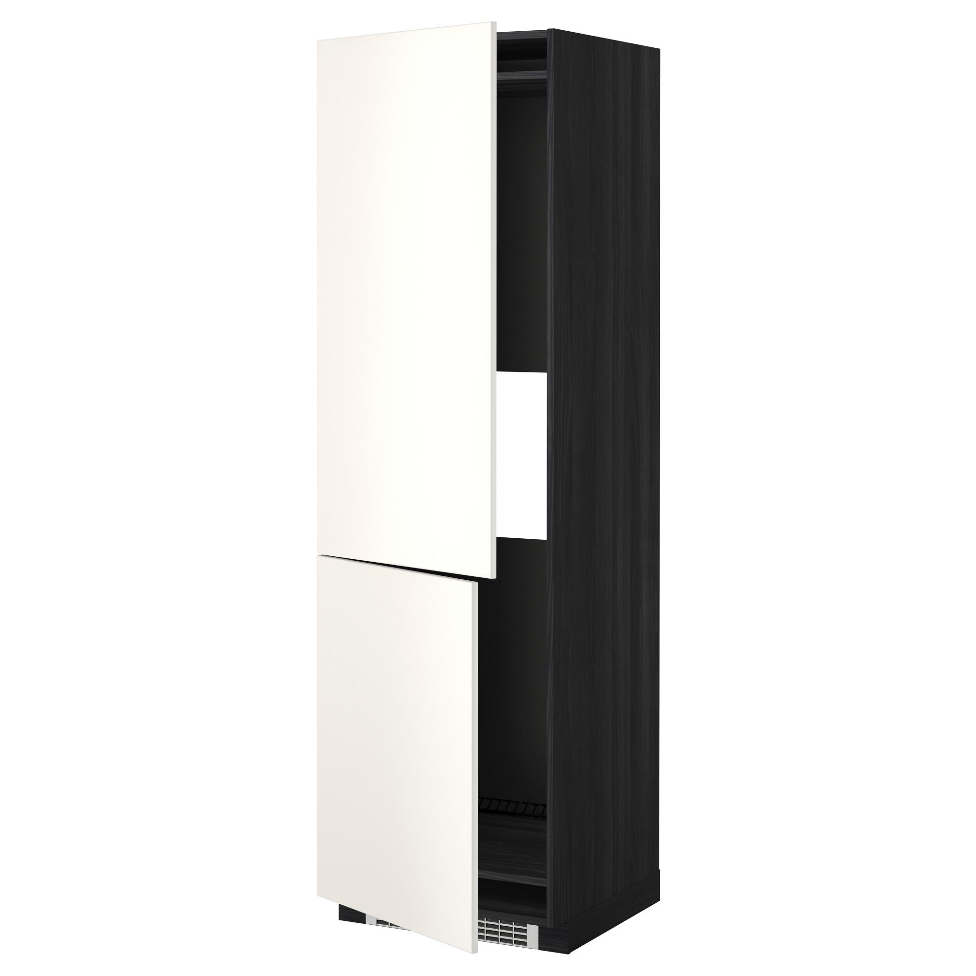 Высокий шкаф для холодильника или морозильник МЕТОД черный артикуль № 492.235.46 в наличии. Онлайн сайт ИКЕА Минск. Быстрая доставка и монтаж.