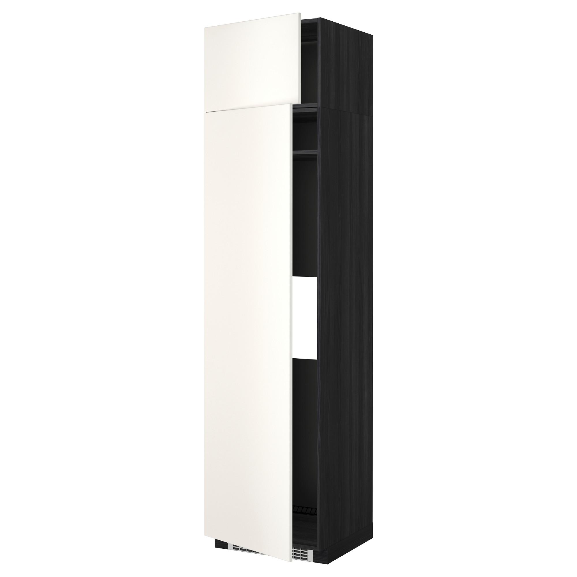 Высокий шкаф для холодильника или морозильник МЕТОД черный артикуль № 592.237.82 в наличии. Онлайн магазин IKEA РБ. Недорогая доставка и монтаж.