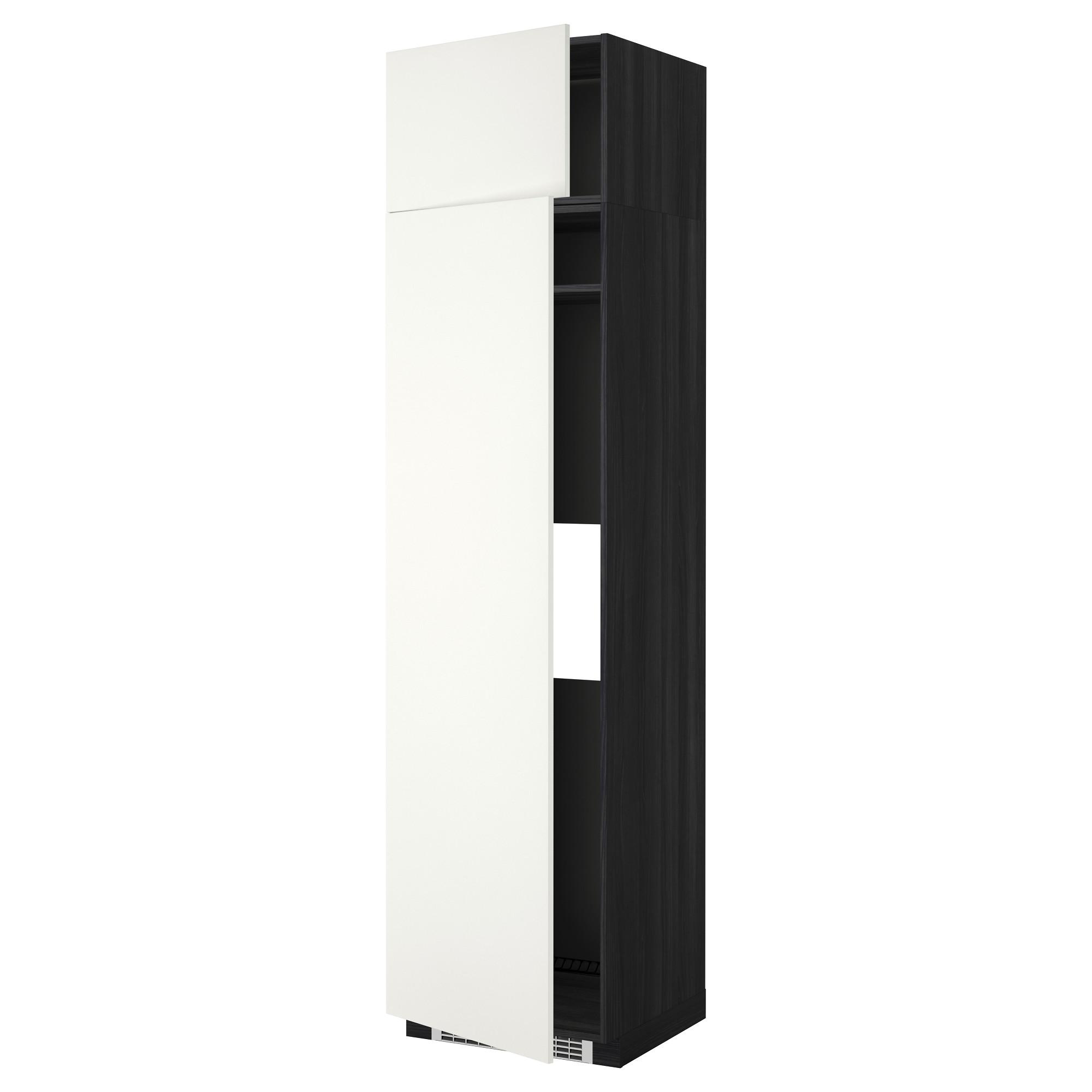 Высокий шкаф для холодильника или морозильник МЕТОД черный артикуль № 592.262.95 в наличии. Интернет каталог ИКЕА РБ. Быстрая доставка и монтаж.