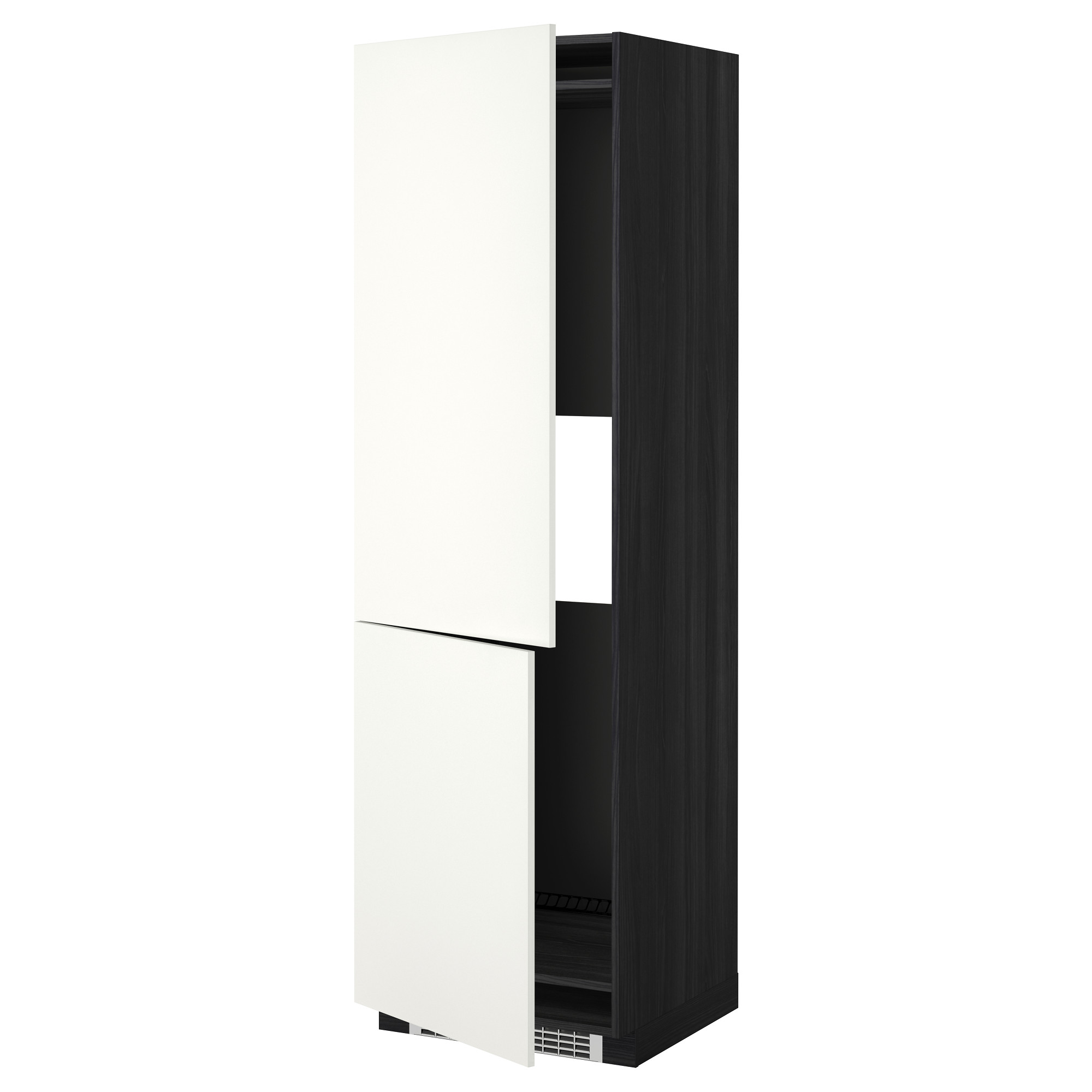 Высокий шкаф для холодильника или морозильник МЕТОД черный артикуль № 692.262.47 в наличии. Online сайт IKEA РБ. Быстрая доставка и установка.