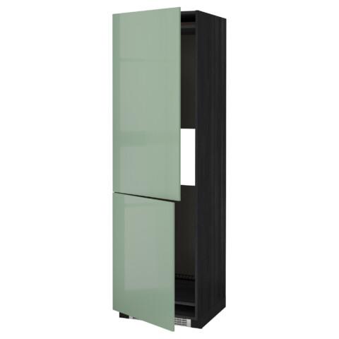 Высокий шкаф для холодильника или морозильник МЕТОД черный артикуль № 792.252.85 в наличии. Онлайн каталог ИКЕА Минск. Недорогая доставка и монтаж.