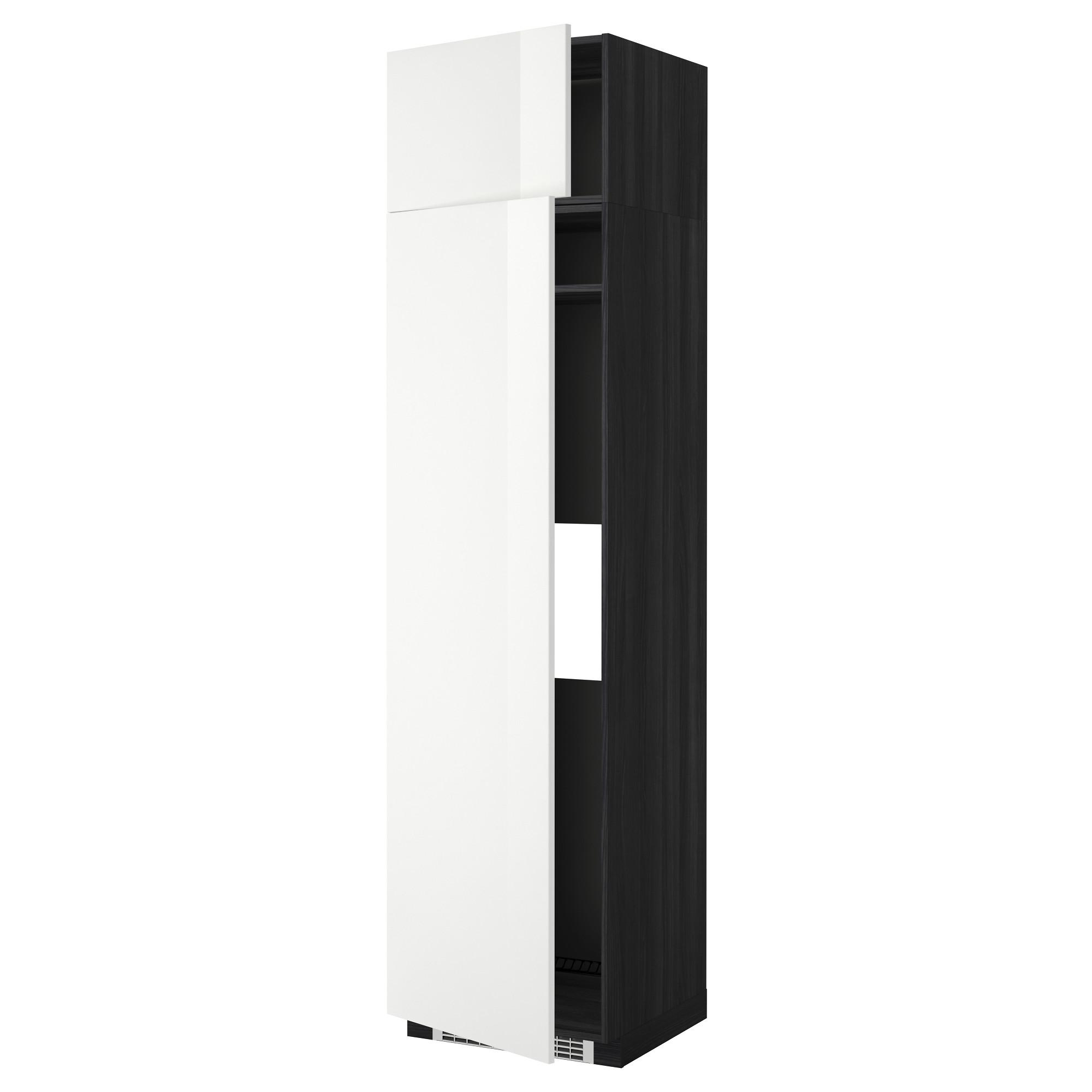 Высокий шкаф для холодильника или морозильник МЕТОД черный артикуль № 892.331.24 в наличии. Online магазин IKEA Минск. Недорогая доставка и соборка.