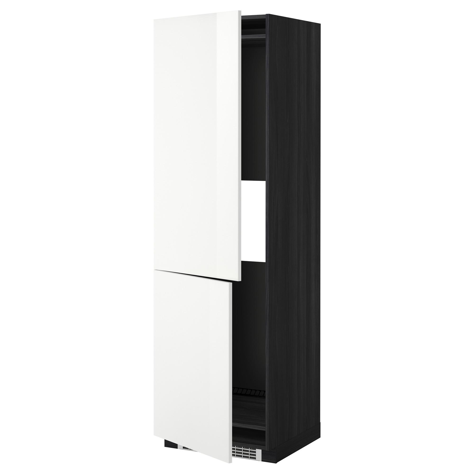 Высокий шкаф для холодильника или морозильник МЕТОД черный артикуль № 992.329.87 в наличии. Интернет магазин IKEA РБ. Недорогая доставка и монтаж.