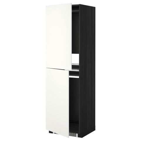 Высокий шкаф для холодильника или морозильника, МЕТОД черный артикуль № 392.262.77 в наличии. Интернет сайт ИКЕА РБ. Недорогая доставка и соборка.