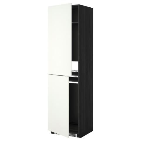 Высокий шкаф для холодильника или морозильника, МЕТОД черный артикуль № 592.263.42 в наличии. Интернет сайт ИКЕА Республика Беларусь. Быстрая доставка и установка.