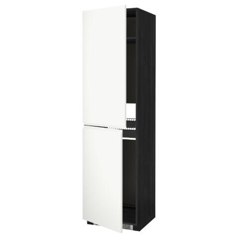 Высокий шкаф для холодильника или морозильника, МЕТОД черный артикуль № 992.243.22 в наличии. Онлайн каталог IKEA РБ. Быстрая доставка и соборка.