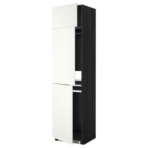 Высокий шкаф для холодильника или морозильника, с 3 дверями МЕТОД черный артикуль № 592.262.81 в наличии. Онлайн сайт IKEA Беларусь. Быстрая доставка и монтаж.
