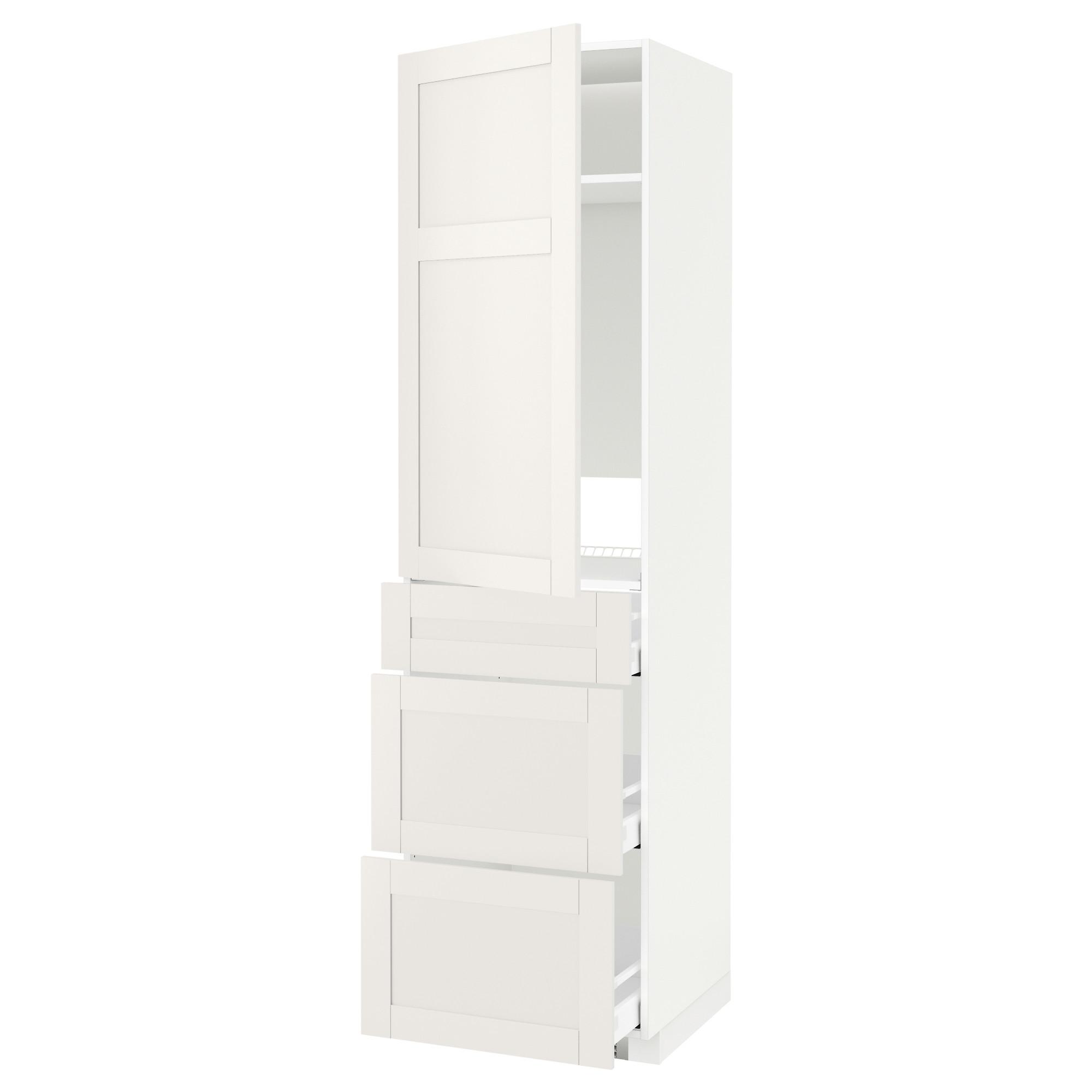 Высокий шкаф для холодильника, с дверцами, 3 ящика МЕТОД / МАКСИМЕРА белый артикуль № 492.390.76 в наличии. Онлайн сайт ИКЕА Республика Беларусь. Быстрая доставка и монтаж.