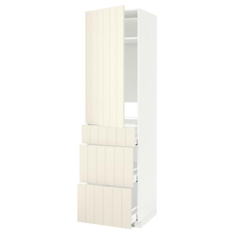Высокий шкаф для холодильника, с дверцами, 3 ящика МЕТОД / МАКСИМЕРА белый артикуль № 592.307.73 в наличии. Онлайн сайт ИКЕА Беларусь. Быстрая доставка и соборка.
