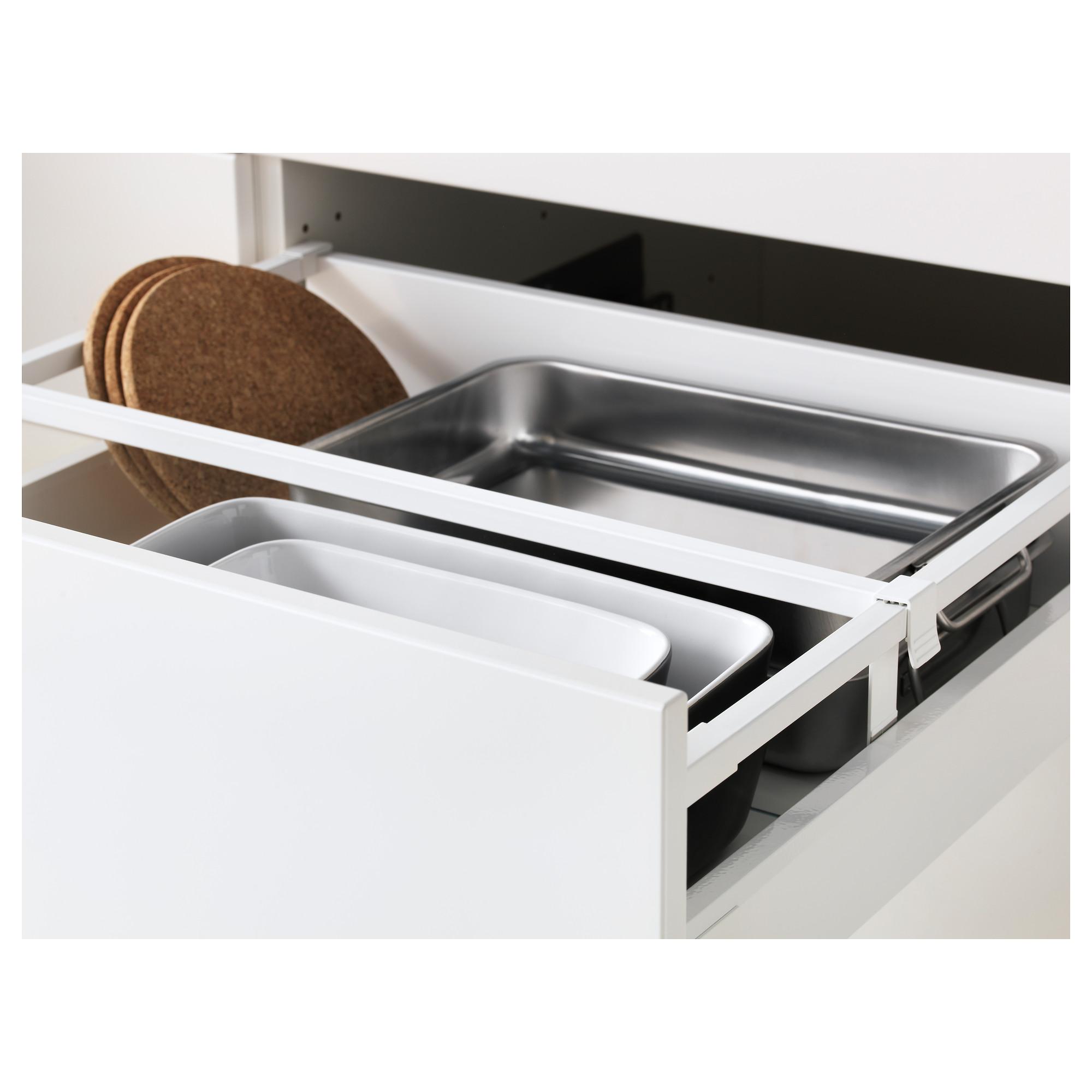 Высокий шкаф для холодильника, с дверцами, 3 ящика МЕТОД / МАКСИМЕРА белый артикуль № 692.378.68 в наличии. Онлайн сайт ИКЕА РБ. Недорогая доставка и установка.