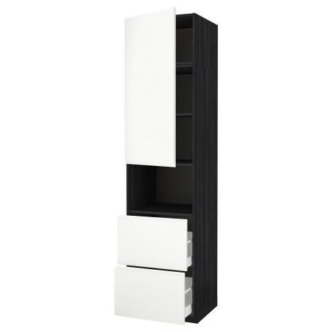 Высокий шкаф для СВЧ/дверца/2ящика МЕТОД / МАКСИМЕРА черный артикуль № 192.391.72 в наличии. Интернет каталог IKEA Минск. Быстрая доставка и соборка.