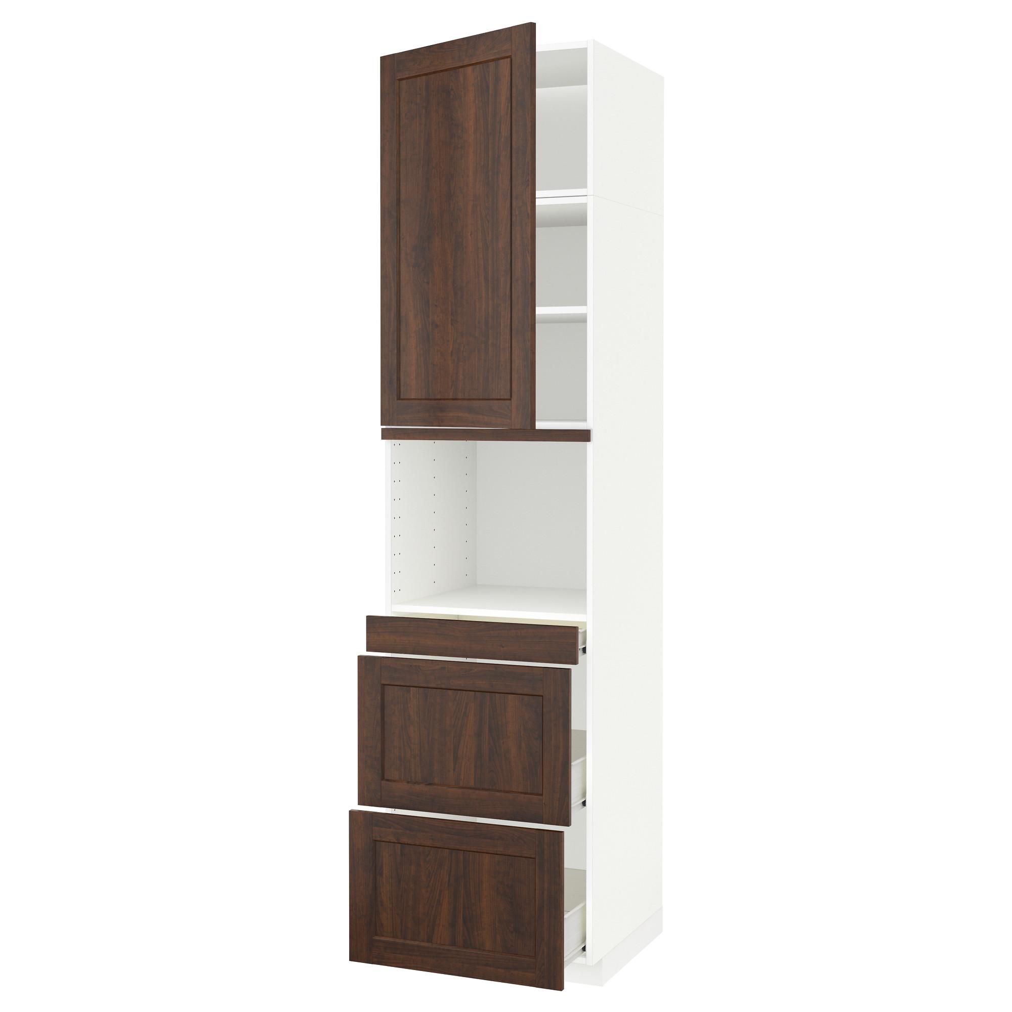 Высокий шкаф для СВЧ/дверца, 3 ящика МЕТОД / ФОРВАРА белый артикуль № 292.618.55 в наличии. Онлайн магазин ИКЕА Беларусь. Недорогая доставка и установка.
