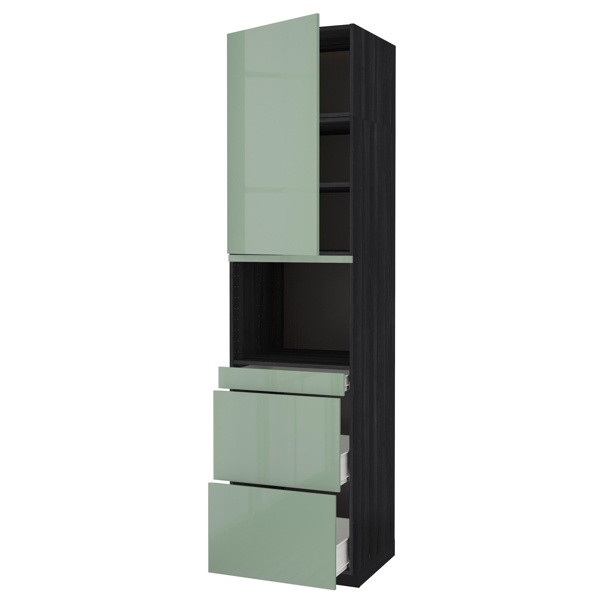 Высокий шкаф для СВЧ/дверца, 3 ящика МЕТОД / ФОРВАРА черный артикуль № 392.664.28 в наличии. Интернет сайт IKEA Республика Беларусь. Недорогая доставка и монтаж.