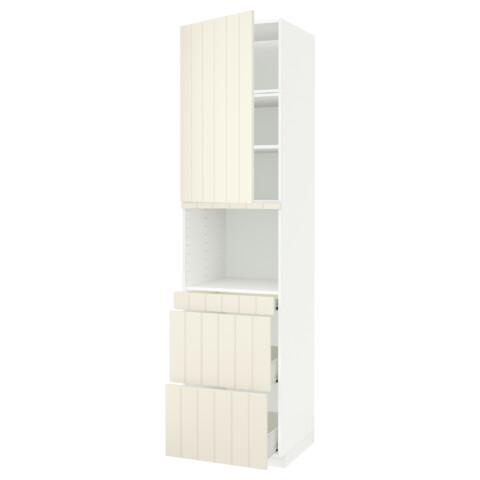 Высокий шкаф для СВЧ/дверца, 3 ящика МЕТОД / ФОРВАРА белый артикуль № 492.619.63 в наличии. Online каталог IKEA РБ. Быстрая доставка и соборка.