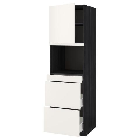 Высокий шкаф для СВЧ/дверца, 3 ящика МЕТОД / ФОРВАРА черный артикуль № 492.647.87 в наличии. Интернет каталог IKEA РБ. Быстрая доставка и установка.