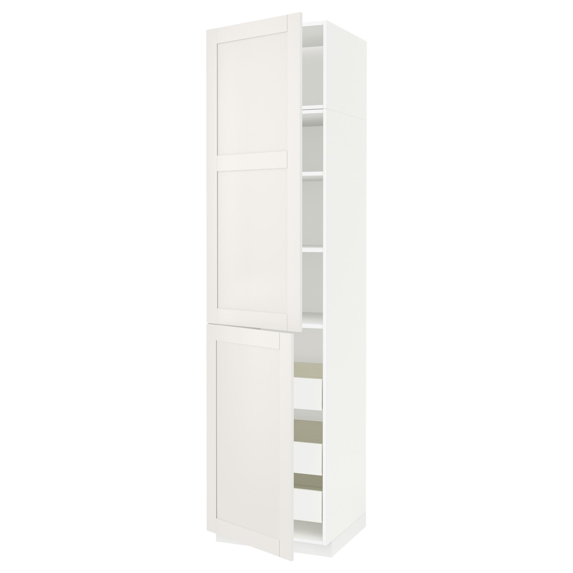 Высокий шкаф + полки, 3 ящика, 2 дверцы МЕТОД / ФОРВАРА белый артикуль № 192.658.06 в наличии. Online сайт IKEA Беларусь. Недорогая доставка и установка.