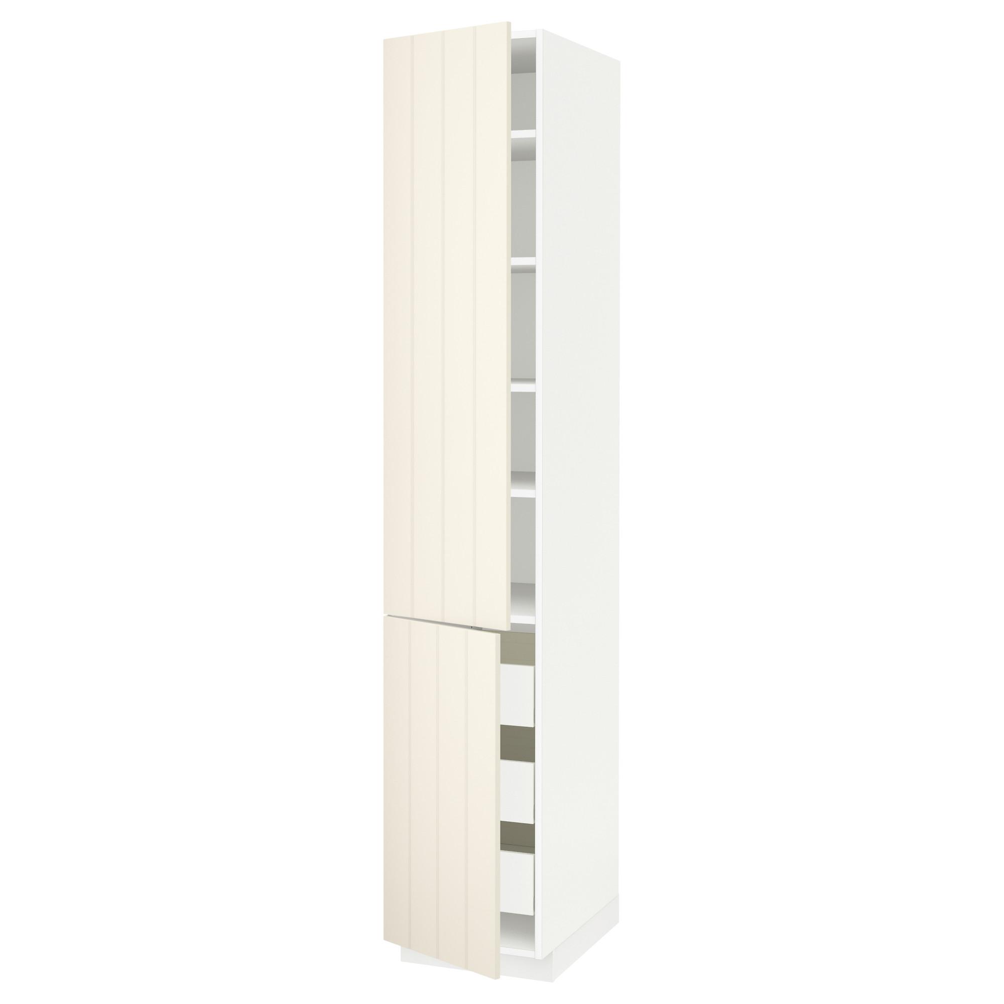 Высокий шкаф + полки, 3 ящика, 2 дверцы МЕТОД / ФОРВАРА белый артикуль № 492.619.44 в наличии. Онлайн сайт IKEA Минск. Быстрая доставка и монтаж.