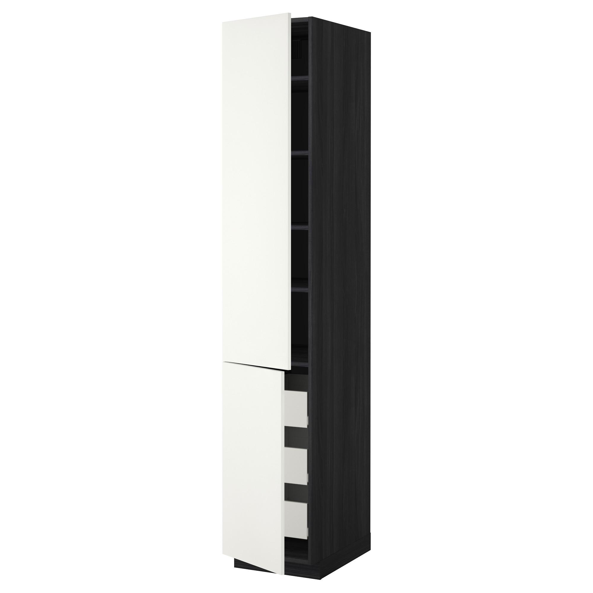 Высокий шкаф + полки, 3 ящика, 2 дверцы МЕТОД / ФОРВАРА черный артикуль № 592.620.90 в наличии. Онлайн сайт IKEA Беларусь. Недорогая доставка и установка.
