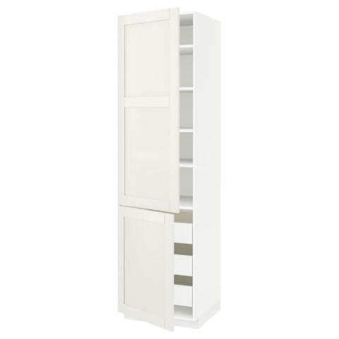 Высокий шкаф + полки, 3 ящика, 2 дверцы МЕТОД / ФОРВАРА белый артикуль № 592.657.91 в наличии. Онлайн магазин IKEA Беларусь. Недорогая доставка и установка.